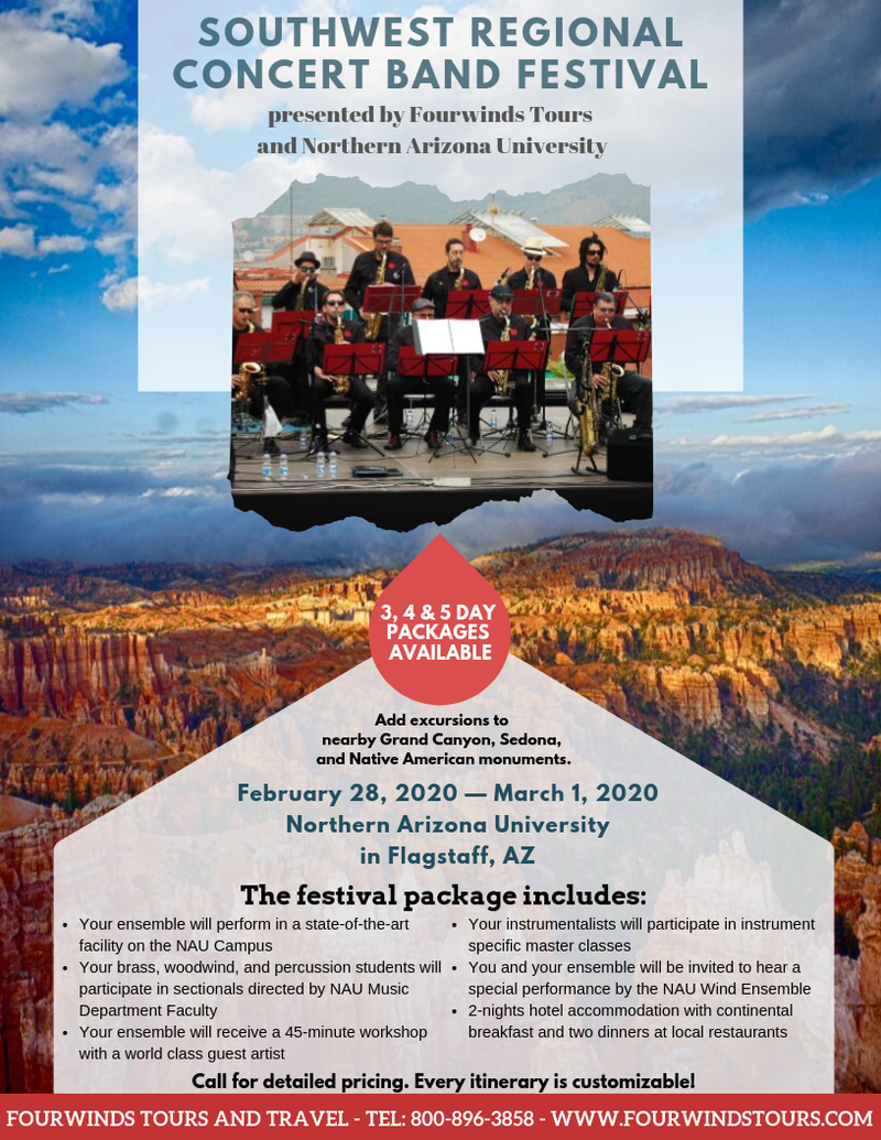 NAU band festival flyer